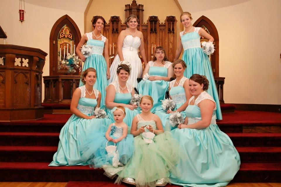 pool blue tutu flower girl dresses