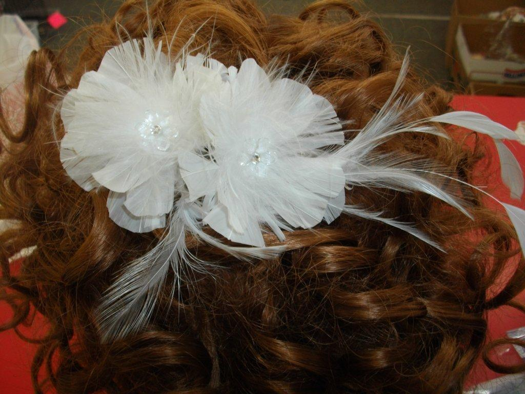 bridal flower hair comb