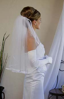 elbow length bridal veil