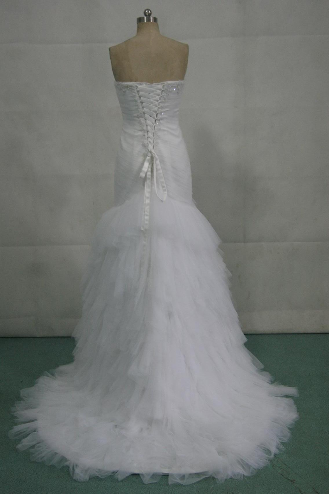 form fitting wedding gown