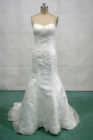 Mermaid Strapless Sweetheart Lace Wedding Dresses