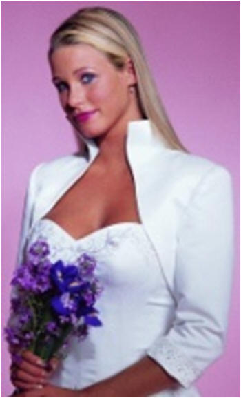 wedding gown bolero jacket