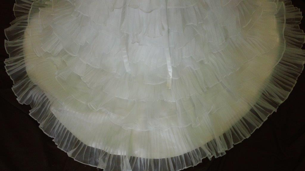 chiffon tiered layered skirt