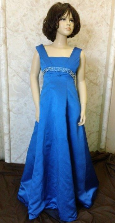 long blue dresses for junior bridesmaids