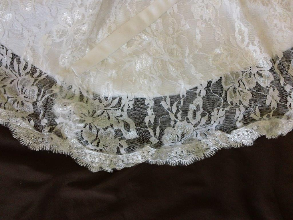 lace infant flower gown with small train