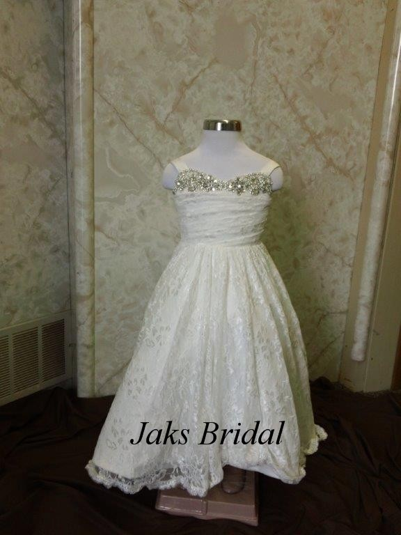 sweetheart infant lace wedding gown